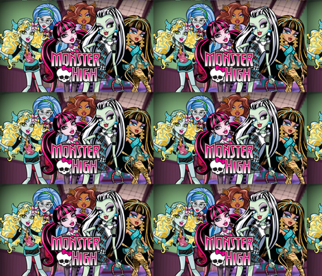 Monster High Girls fabric by gardeningbylee on Spoonflower - custom fabric