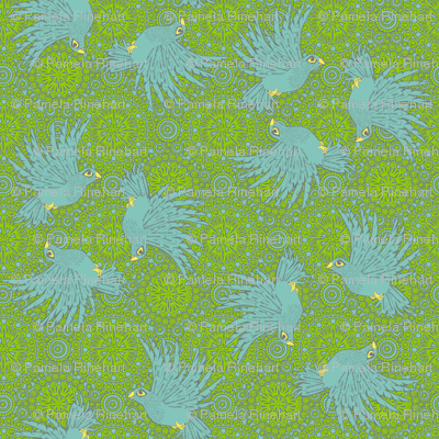 fancy flight 4 color  blue birds