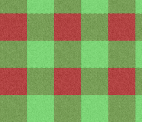 Holly Jolly Knit Gingham fabric by peacoquettedesigns on Spoonflower - custom fabric