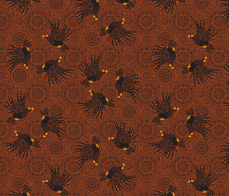 fancy_flight  black birds fabric by glimmericks on Spoonflower - custom fabric
