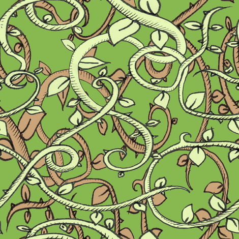 jungle3 fabric by miraculousmosquito on Spoonflower - custom fabric