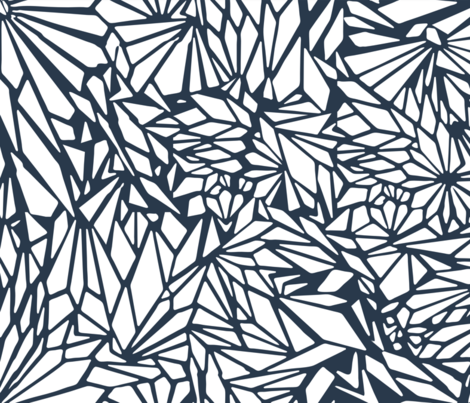 paper_cut_outs_Navy fabric by silverkaos on Spoonflower - custom fabric