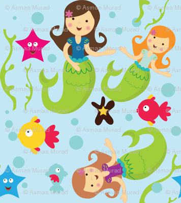 Mermaids under the sea