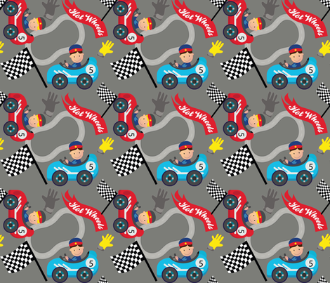 Hot Wheels Cute Car Racer fabric by karigari on Spoonflower - custom fabric