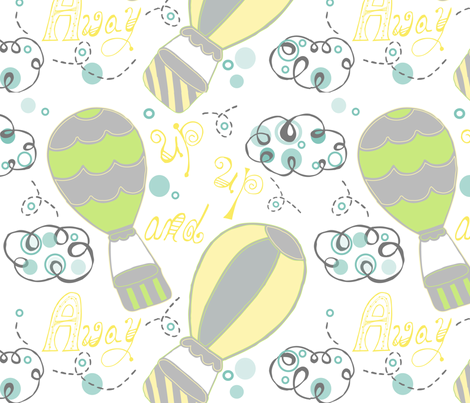 Up up and away! fabric by leska_hamaty_design on Spoonflower - custom fabric