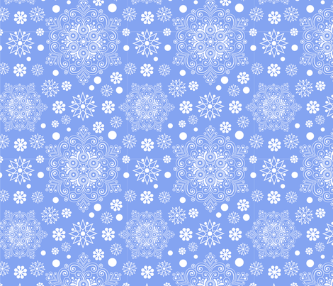 snowflakes fabric by lena_sokol on Spoonflower - custom fabric