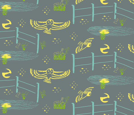 Night Flight fabric by creative_merritt on Spoonflower - custom fabric