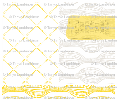 Placemats - Yellow/Gray