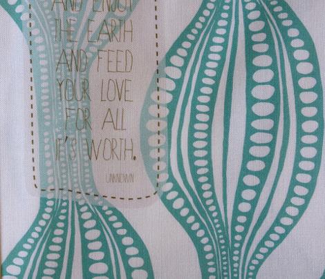 Eat Love Laugh napkins in jade