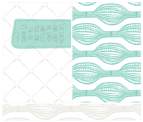 Placemats - Jade/Gray fabric by tailorjane on Spoonflower - custom fabric