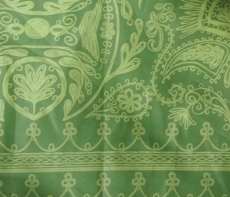 1900s Green Embroidery