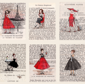 Paris Black &amp; Red Vintage Ladies