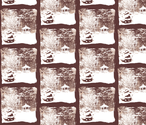 Winter Wonderland Woodland fabric by karenharveycox on Spoonflower - custom fabric