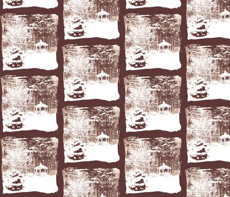 Winter Wonderland Woodland fabric by karenharveycox on Spoonflower - custom fabric
