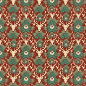 BEDDING_pattern-deer