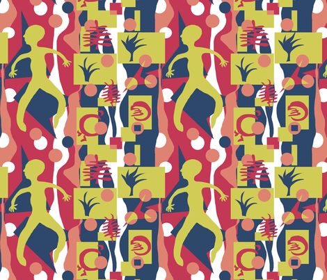 Matisse-Nasher2 fabric by linsart on Spoonflower - custom fabric