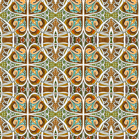Spadeflower Ball fabric by edsel2084 on Spoonflower - custom fabric