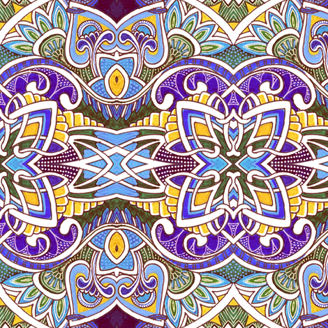 French Provincial, Celtic (Not) fabric by edsel2084 on Spoonflower - custom fabric