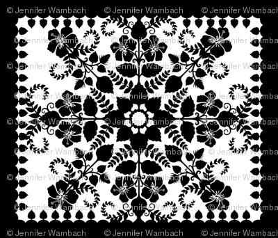 Akahai Quilt - black & white