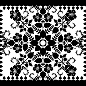 Akahai Quilt - black &amp; white