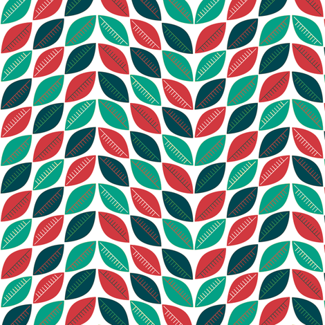 Christmas Leaves fabric by pennycandy on Spoonflower - custom fabric