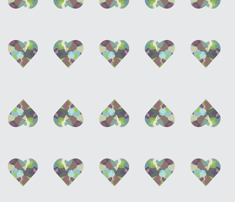 HeartHeart-grey fabric by msnina on Spoonflower - custom fabric