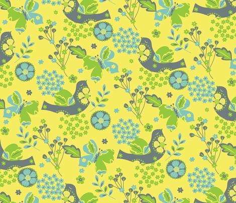 Flights of Fancy fabric by vicjdesign on Spoonflower - custom fabric