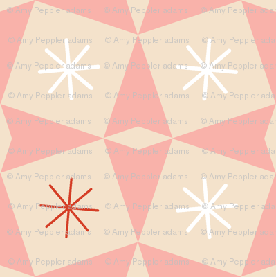 Pretty Packages* (Jagger) || vintage geometric midcentury modern atomic stars starburst gifts presents diamonds Christmas holiday