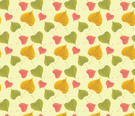 Autumn Poplar Leaves fabric by diane555 on Spoonflower - custom fabric