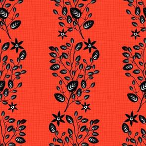 Orange Floral Pattern