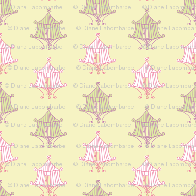 Pastel Birdcage Design
