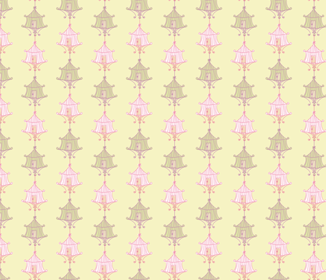Pastel Birdcage Design fabric by diane555 on Spoonflower - custom fabric