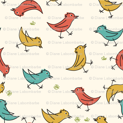 Retro Cartoon Birds