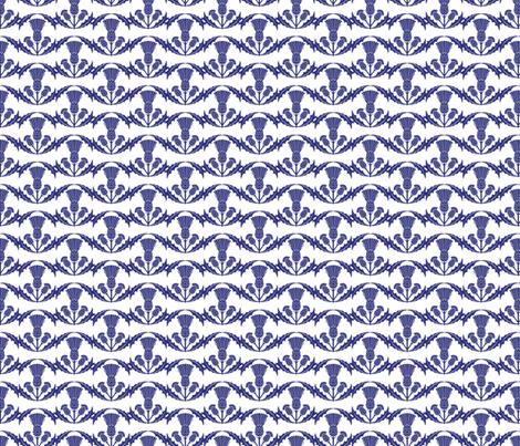 Scottish Thistles on White fabric by diane555 on Spoonflower - custom fabric