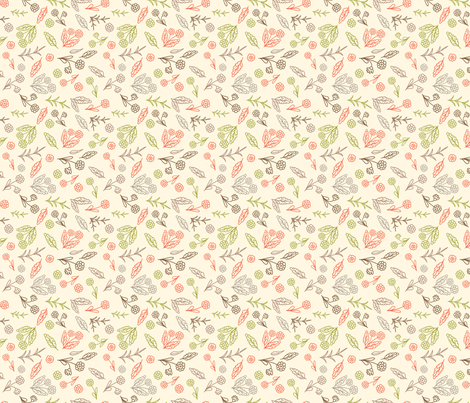 Small Sketchy Florals fabric by diane555 on Spoonflower - custom fabric