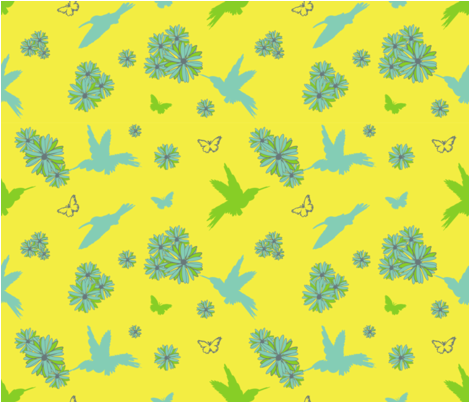 hummingbirds fabric by christine_gibson on Spoonflower - custom fabric