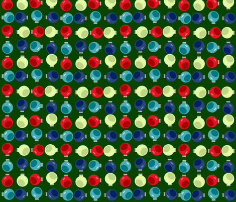 Ornaments Green fabric by juliapaigedesigns on Spoonflower - custom fabric