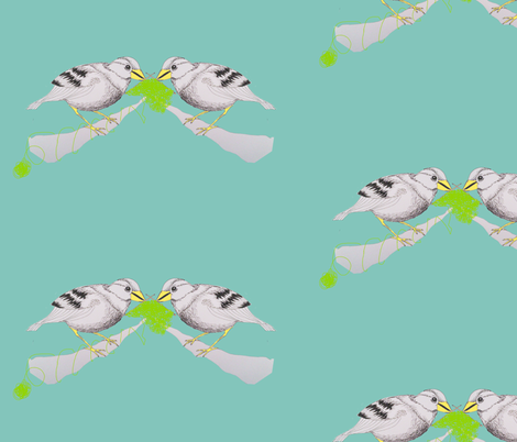 a birdie fabric by marimuc on Spoonflower - custom fabric