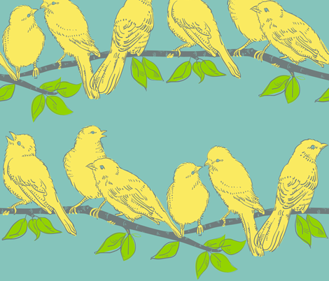 birds_on_branch fabric by antoniamanda on Spoonflower - custom fabric