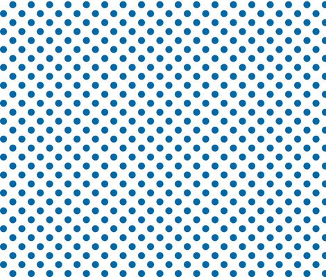polka dots blue and white fabric by misstiina on Spoonflower - custom fabric