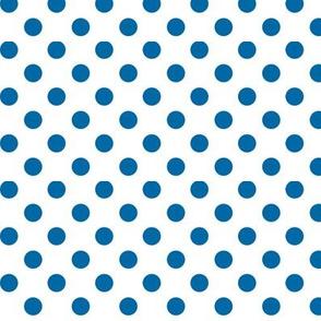 polka dots royal blue