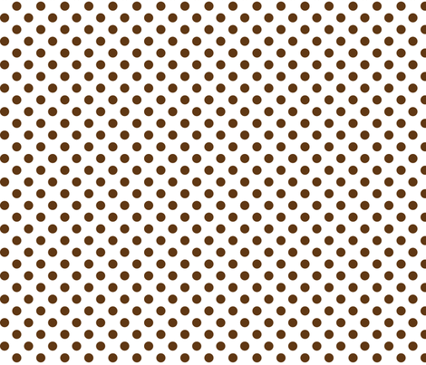 polka dots brown and white fabric by misstiina on Spoonflower - custom fabric