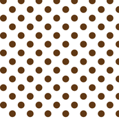 polka dots brown and white