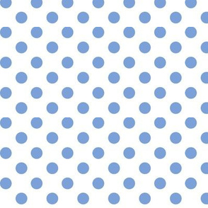 polka dots cornflower blue