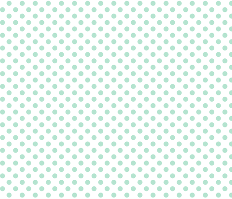 polka dots mint green and white fabric by misstiina on Spoonflower - custom fabric