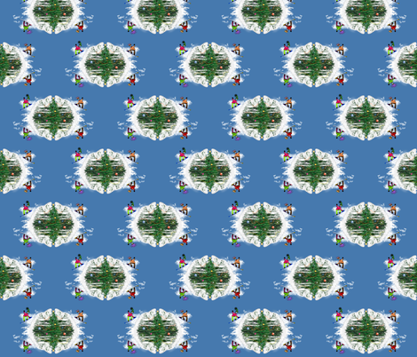 Snow Boner Pattern fabric by boneyfied on Spoonflower - custom fabric