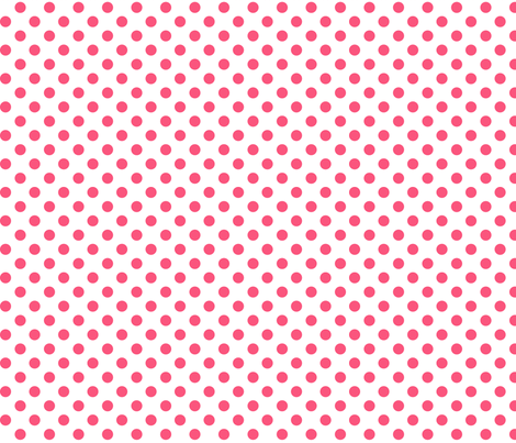 polka dots hot pink fabric by misstiina on Spoonflower - custom fabric