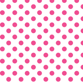 polka dots dark pink and white