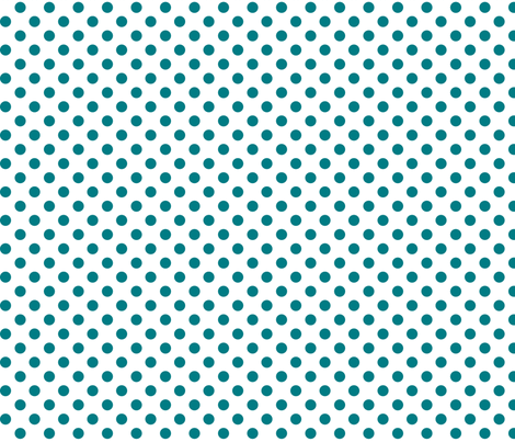 polka dots dark teal and white fabric by misstiina on Spoonflower - custom fabric