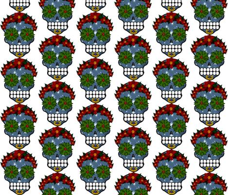 Xmas Skull fabric by boneyfied on Spoonflower - custom fabric